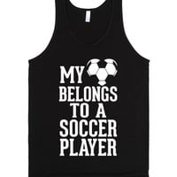 My Heart Belongs To A Soccer Player (Dark Tank Top) |