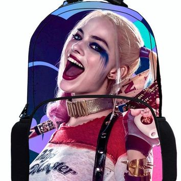 17 Inch Suicide Squad Backpack For Teenager Children Harley Quinn Joker School Bags Shoulder Bag Boys Girls School Backpacks