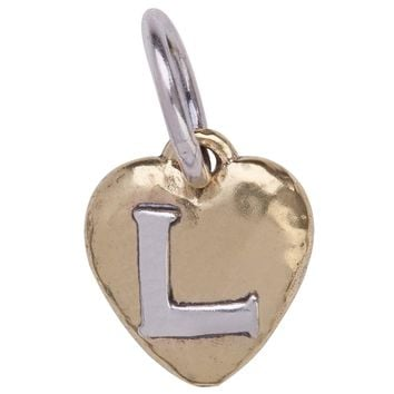"Waxing Poetic Heartswell Insignia Letter ""L"" Charm"