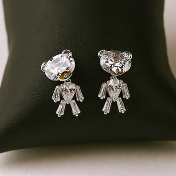 925 Silver Cartoons Lovely Simple Design Strong Character Earrings [10399364436]