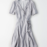 Don't Ask Why Wrap Dress, Gray