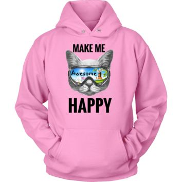 Awesome Glasses Cat Unisex Hoodie T-Shirt (11 Colors)