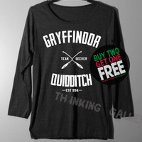 Gryffindor Quidditch Shirt Long Sleeve TShirt T Shirt - Size S M L