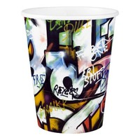 Colorful Graffiti Words Paper Cup