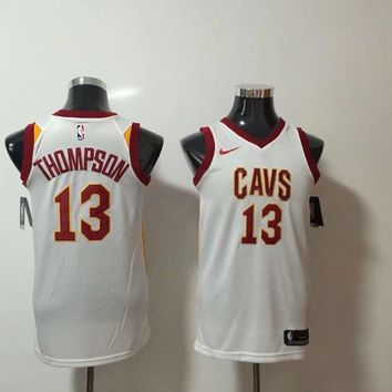 Nike Cleveland Cavaliers 13 Tristan Thompson Basketball Jersey White Swingman Edition
