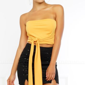 Through With Love Top - Yellow