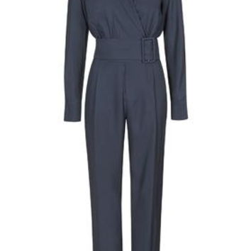 **Coterill Jumpsuit By Unique - Navy Blue
