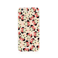 Mickey Minnie Mouse Pattern iPhone 6s 6 Plus SE 5s 5 Soft Clear Case