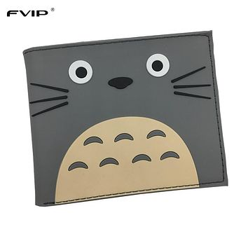 Free Shipping PVC Wallet Attack on Titan/Totoro/Overwatch/One Piece/Harry Potter/The Witcher 3 Cartoon Wallets with Card Holder