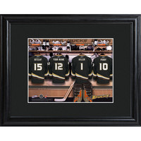 NHL Locker Room Print in Wood Frame - Ducks