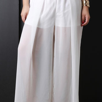 Semi-Sheer Maxi Pants