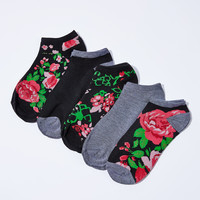 0789-52534031 Floral Ankle Sock Pack