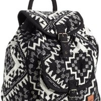 Roxy Juniors Drifter Rucksack, Black/White Print, One Size: Clothing