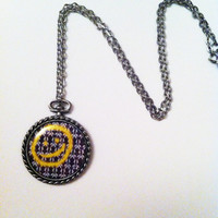 Sherlock Smiley Face Wallpaper Necklace