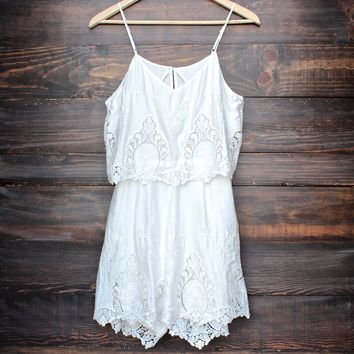The Jetset Diaries without suspense romper - white