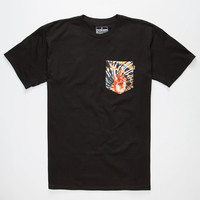 BOHNAM Burnin Mens Pocket Tee | Graphic Tees
