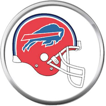 NFL Buffalo Bills Helmet Football Lovers 18MM - 20MM Snap Charm Jewelry