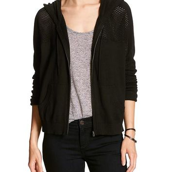 Banana Republic Womens Factory Pointelle Hoodie