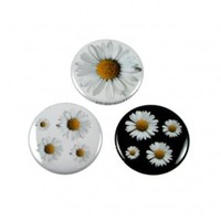Daisy Button Badge Pin Pack