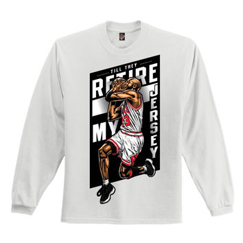 The Fresh I Am Clothing Retire My Jersey 72-10 11's Long Sleeve Tee