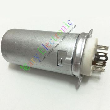 Wholesale and retail 4pc 9Pin Vacuum tube Socket with 55mm Aluminum Chassis for 12AX7 12AU7 ECC82 free shipping