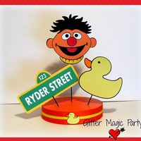 Ernie Centerpiece Personalized Name and Age - Sesame Street