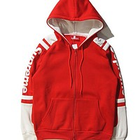 """""""Supreme"""" men and women couples leisure multicolor printed logo pullover hoodies sweatshirts F"""