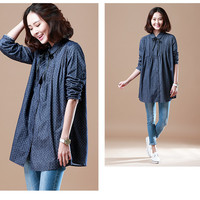 Loose Dotted Long Sleeve T-Shirt