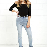 Rollas Eastcoast Ankle Christy Blue High-Waisted Skinny Jeans