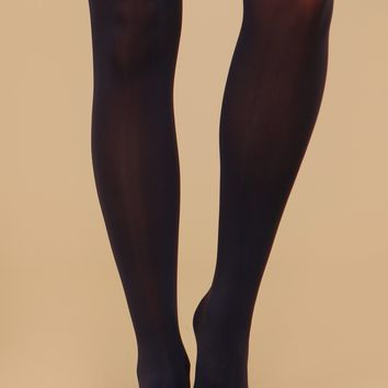 Semi-Sheer Tights Indigo
