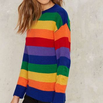 Color of Love Rainbow Sweater