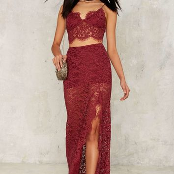 Napa Lace Maxi Skirt