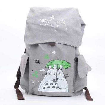 Cool Attack on Titan Anime One Piece Naturo Totoro  Tokyo Ghoul Death Note Backpack Large Capacity Travel Bag Plush Rucksack Mochila AT_90_11