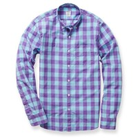 Summer Weight Shirt - Purple Beach Gingham