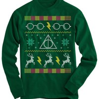 Harry Potter Glasses Ugly Christmas Sweater - On Sale
