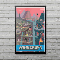 Minecraft World Poster Photo Print Picture Video Game Xbox PC PS4 Geek LP12