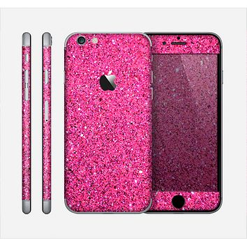 The Pink Sparkly Glitter Ultra Metallic Skin for the Apple iPhone 6