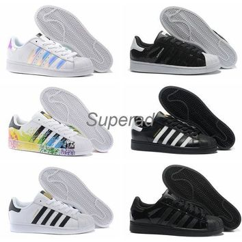 2016 Originals Superstar White Hologram Iridescent Junior Superstars 80s Pride Sneaker