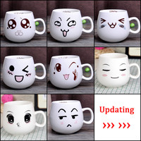 320ml Creative Cute Expression Ceramic Mugs Water Container Cups And Mugs Porcelain Tea Cup Coffee Mug