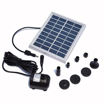 Solar Fountain Pump Water 9V 2W Solar Power Decorative Fountain Water Pumps 150L/H Pump