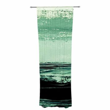 "Iris Lehnhardt ""Minimal Scape"" Green Abstract Painting Decorative Sheer Curtain"