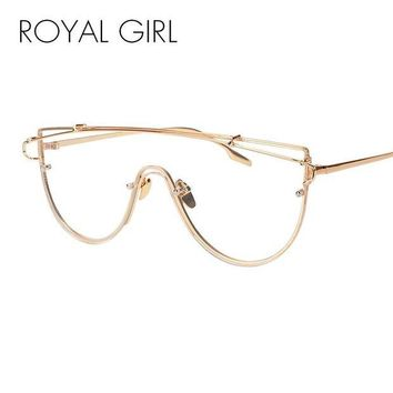 DCCKU7Q ROYAL GIRL New Unique Metal Eyeglasses Frames Designer Optical Glasses Included pouches SS915