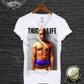 The king of HipHop 2pac THUG LIFE tupac shakur pixelization fx White men t-shirt  gangsta rapper music Tank Top dance biggie S, M L XL MD587