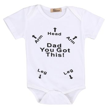 You Got This Dad Short Sleeved Graphic for Newborns