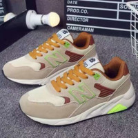 New Balance Running Sport Casual Shoes Women Men Sneakers Print shoes Brown