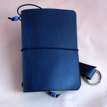 Your Custom Leather for any Travel Notebook Sketchbook or Journal Cover or Moleskine Large Rhodia Webbie or Midori Regular