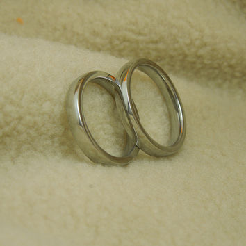 Shiny Stylish New Arrival Gift Jewelry Titanium Simple Design Korean Couple A4 Size Ring [6586405063]
