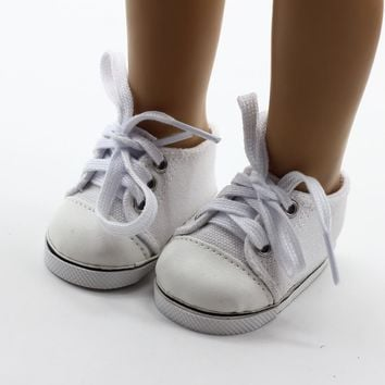 Cute 18Inch Baby Born Doll Shoes For American Girl Baby Born Doll Clothes Accessories Fashion Handmade Sneakers Doll Dress