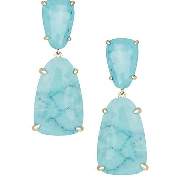 Katie Statement Earrings in Turquoise Magnesite - Kendra Scott Jewelry