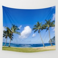 Wall Tapestry with palms on the Hawaii, Poipu Beach